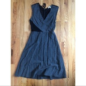 Tracy Reese gray & black dress Sz M